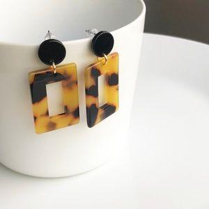 Jewelry - NEW Acrylic Rectangular Drop Earrings